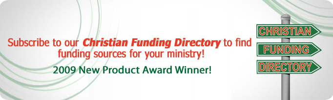Check out our Christian Funding Directory