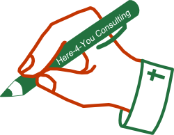 Here-4-you Consulting Hands Graphic