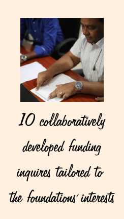 10 collaboratively developed grant applications.